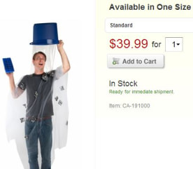 Ice bucket challenge costume