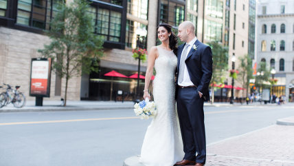 Boston Marathon bombing survivor James Costello and Krista D'Agostino, a nurse who helped care for him during his rehabilitation, got married this past weekend thanks to the donations of a host of businesses.