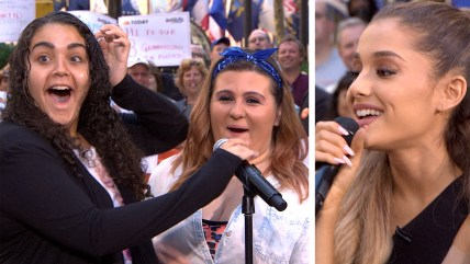 Image: Ariana Grande surprises happy fans on TODAY