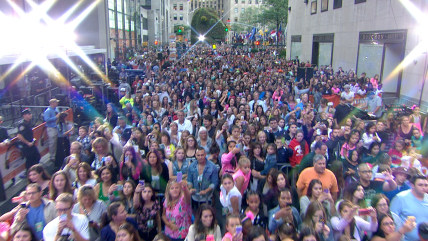 The crowd packed into the TODAY plaza for Ariana Grande's concert.