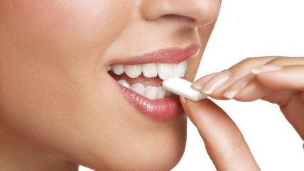 gum, candy, eat, teeth, woman