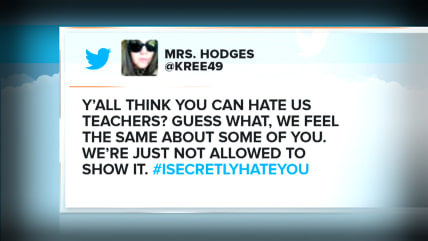Teacher's offensive tweets