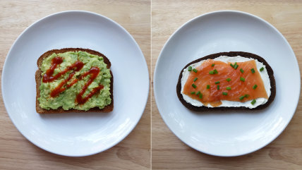 Toast topper recipes: Avocado toast and salmon on toast