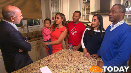 TODAY's Matt Lauer speaks with Janay and Ray Rice with their daughter Rayven Rice and Janay's parents Can