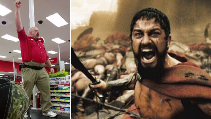 """Scot from Target and Gerard Butler in """"300"""""""