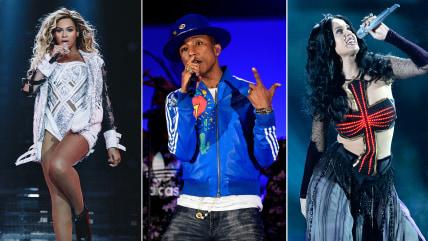 Beyonce, Pharrell Williams, Katy Perry