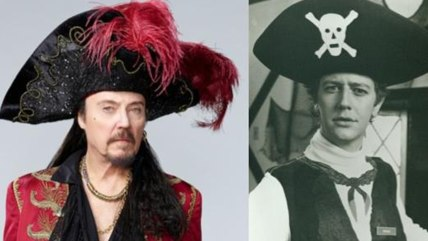 Christopher Walken as Captain Hook, left, and Judge Reinhold in a Hook costume, right.