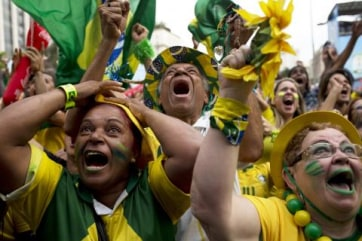 Image: Brazil fans at World Cuo