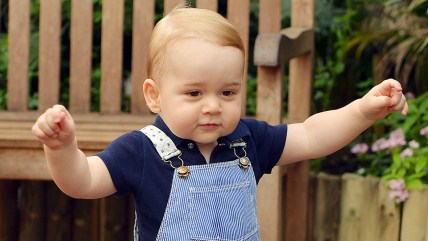 Prince George's chubby little fingers love playing with an iPad.