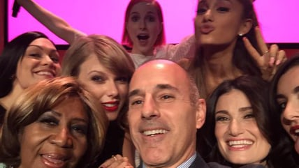 Matt Lauer takes a selfie with Taylor Swift, Aretha Franklin, more at Billboard's women in music panel