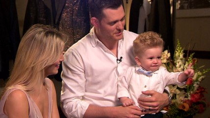 Image: Michael Buble and son Noah