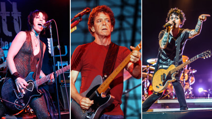 Joan Jett, Lou Reed, Billie Joe Armstrong of Green Day
