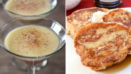 Nutmeg martini and Nutmeg French Toast