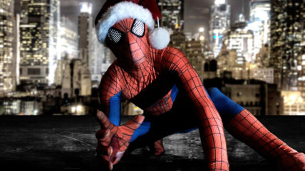 Spidey-Dad hopes to comfort other sick kids with his Spidey-charm and holiday cheer.