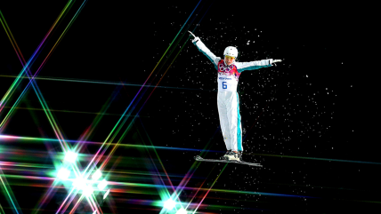 Image: Olympic skiers appear to levitate