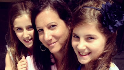 TODAY producer Tammy Fine smiles with her daughters Abigail and Elizabeth.