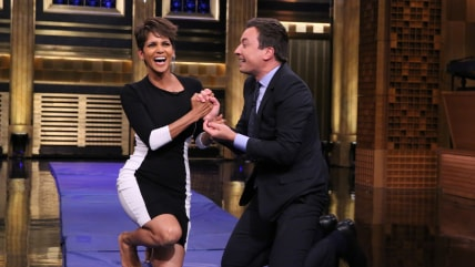 Image: Halle Berry and Jimmy Fallon