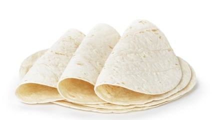 wheat round tortillas, isolated on white background; Shutterstock ID 175742816; PO: today.com