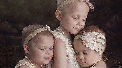 Three little girls with cancer, captured in this beautiful photo, are now in remission.