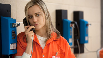 "Taylor Schilling in a scene from Netflix's ""Orange is the New Black"" Season 2. Photo credit: JoJo Whilden for Netflix"