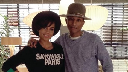 Image: Alicia Keys and Pharrell Williams