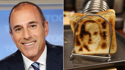 Matt Lauer uses the selfie toaster