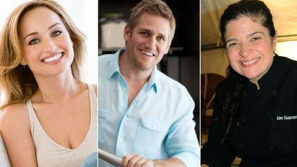 Image: Celebrity chefs Giada DiLaurentiis, Curtis Stone and Alex Guarnaschelli