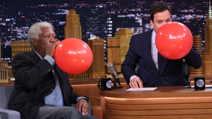 Image: Morgan Freeman, Jimmy Fallon