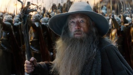 "Gandalf appears in a scene of the new ""Hobbit"" trailer."