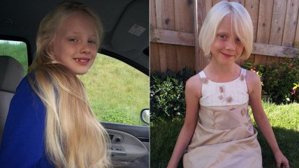 Charlie Tillotson, who has been dubbed a real-life Rapunzel, cut her long blonde hair to help kids with cancer.