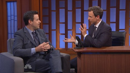 Carson Daly and Seth Meyers