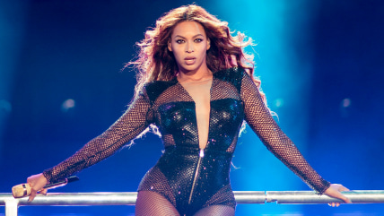 Beyonce performs during the On The Run tour at Mercedes-Benz Superdome on Sunday, July 20, 2014 in New ...