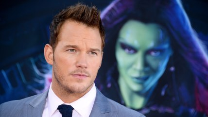 "Chris Pratt arrives at the premiere of ""The Guardians Of The Galaxy"" at El Capitan Theatre on Monday, July 21, 2014, in Los Angeles. (Photo by Jordan ..."