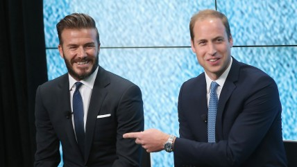 Prince William launched the 'United for Wildlife' Campaign with David Beckham at Google Town Hall on June 9, 2014 in London, England.