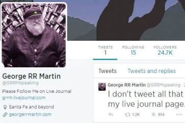 George R.R. Martin on Twitter