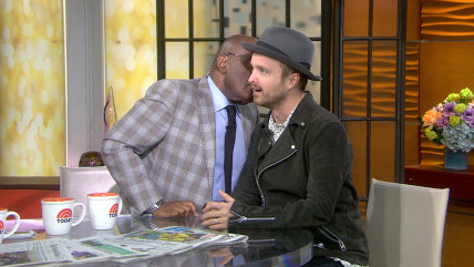 Image: Al Roker and Aaron Paul