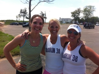 Erica Hill with friends and fellow OutRUNers Liz Shuman and Nicole Burke.