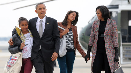 "President Barack Obama and wife Michelle want their teenage daughters to experience the type of minimum-wage work they both once did, saying ""every kid needs to get a taste of what it's like to do that real hard work."""