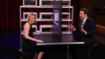 Image: Jennifer Lawrence and Jimmy Fallon