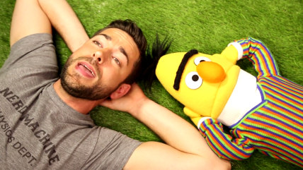 Zachary Levi and Bert.