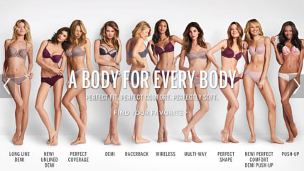 "Victoria's Secret altered a recent ad slogan from ""Perfect Body"" to ""A Body for EveryBody"" in the wake of a negative backlash."
