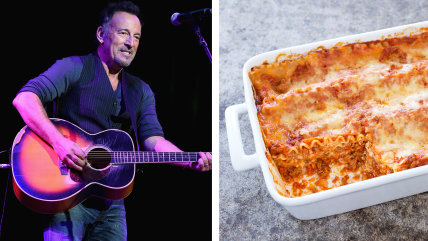 Bruce Springsteen and a fine Italian meal.