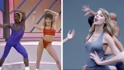 Taylor Swift and aerobic video