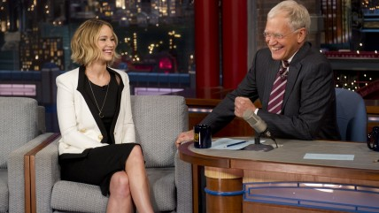 Jennifer Lawrence, David Letterman