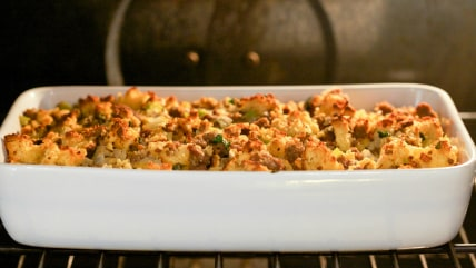 Grain-free Cornbread and sausage stuffing