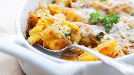 Cheesy baked butternut squash