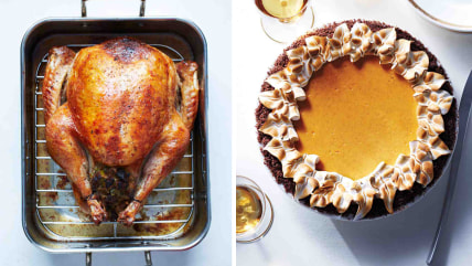 Martha's turkey and pie