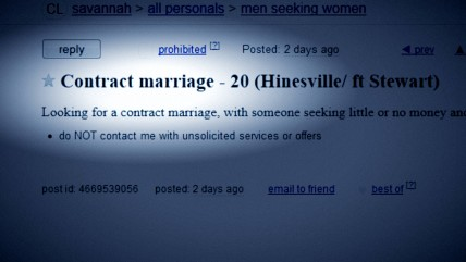 Contract marriage.