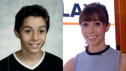 Image: Cristin Milioti then and now