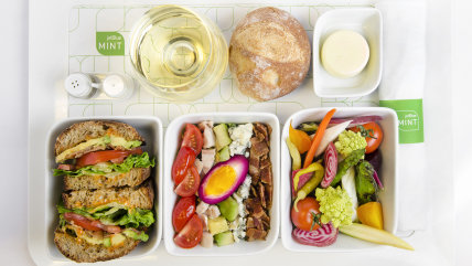 Meals on Jet Blue's Mint Class